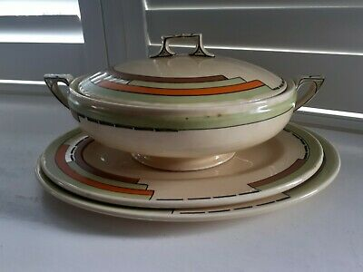 Lovely Art Deco Myott Pottery Handpainted Trio. • 12.99£