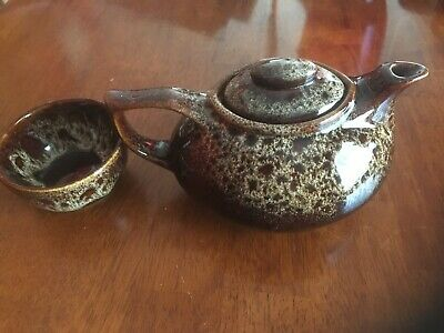 Teapot And Sugar Bowl From Fosters Pottery - Vintage • 20£