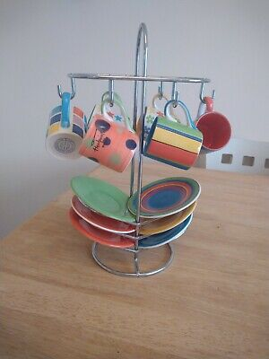 Whittard Of Chelsea Hand Painted 12 Piece Espresso Set With Display Stand.  • 15£