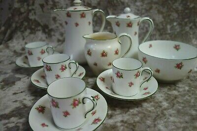 Vintage Crown Staffordshire China Pink Roses 4039 Coffee Set 12 Pieces  • 25£