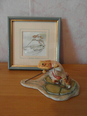 Beatrix Potter Jeremy Fisher  Small   Figure & Picture  { Putting } • 9.99£