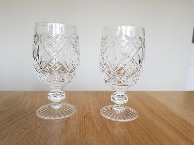 Stuart Crystal Winchester Water Wine Goblet Glass Pair • 20£