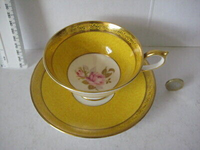 Rare Vintage Aynsley England High Quality Cabinet  Tea Cup Saucer Roses • 49.99£