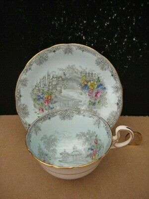 Rare Vintage Aynsley England Queens Garden Cabinet Cup And Saucer Enamelled • 29.99£