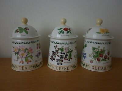 Dunoon Nature Trail Tea Coffee And Sugar Storage Jars  By Richard Partis • 34.99£