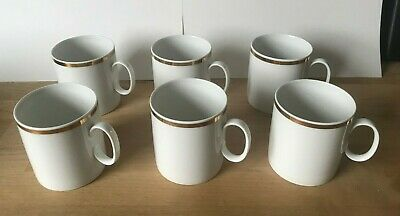 Thomas China - Medaillon Wide / Thick Gold Band -6 CUPS & 5 SAUCERS • 20£