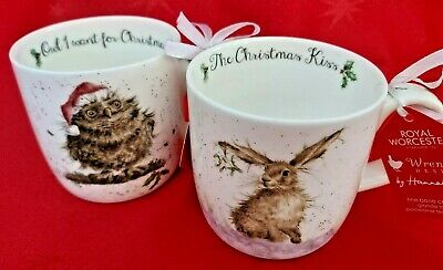 Royal Worcester Wrendale Set Of 2 Mugs. BRAND NEW WITH TAGS. • 14£