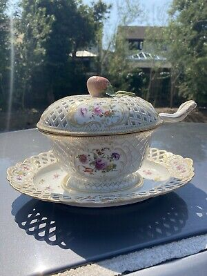 Stunning Meissen Tureen With Strawberry Knop And Ladle • 395£