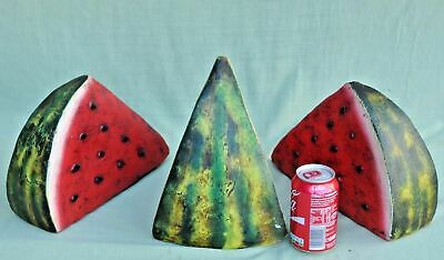 Hand Painted Terracotta Pottery Oversize Water Melon Slices South American  • 20£