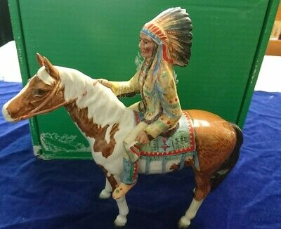 Beswick Mounted Indian Horse Native With Box Collectable Skewbald  • 300£