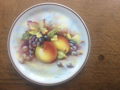Royal Vale Fruit Plate Apples Grapes Signed By Royal Worcester Artist D Wallace • 12.99£