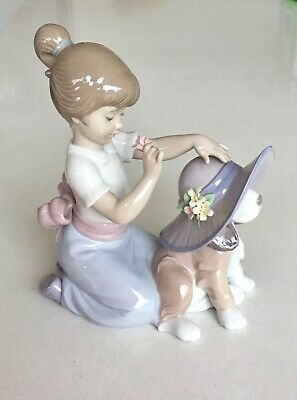 Lladro Figure With Dog 'An Elegant Touch' In Original Box • 85£