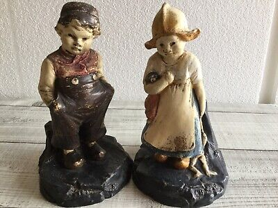 Vintage Bretby Dutch Boy And Girl Ornaments 2890 And 2891 • 8£