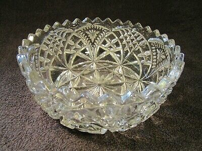 Beautiful Vintage Large Chunky Clear Glass Heavy Trifle Fruit / Bowl. • 9.95£
