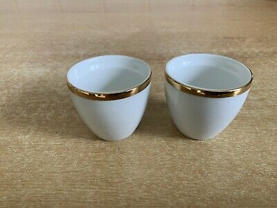 Thomas China - Medaillon Wide / Thick Gold Band - 2 X Egg Cups • 8£