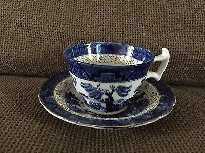 Vintage Booths Real Old Willow Blue & White Cup & Saucer Set • 7.95£
