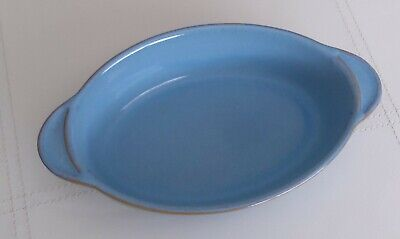Denby Colonial Blue Gratin Dish 9  Long X 5.25  Wide  • 9.99£