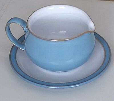 Denby Colonial Blue Gravy Jug And Saucer - New  • 14.99£