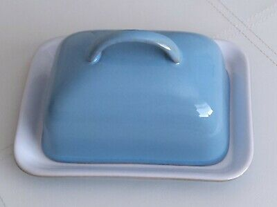 Denby Colonial Blue Butter Dish And Tray - New  • 15.49£