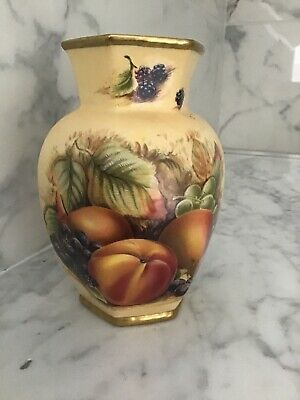 Orchard Gold By Aynsley 5 Inch Tall Hexagonal Vase • 3.80£