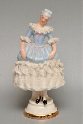AYNSLEY Staffordshire  Clare   Staffordshire Lass  DRESDEN LACE Figurine • 1.99£