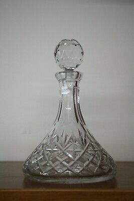 Heavy Lead Crystal Ships Decanter With Original Stopper Great Condition.. • 5£