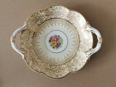 George Jones & Sons  Crescent , Cream And Gold With Floral Design Antique Dish • 9.90£