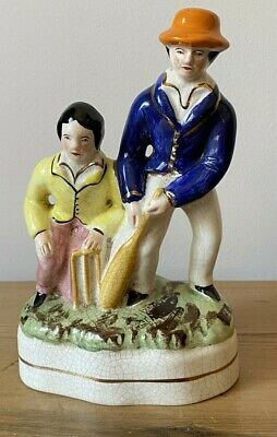 OLD STAFFORDSHIRE  FIGURE Of CRICKETERS • 7£