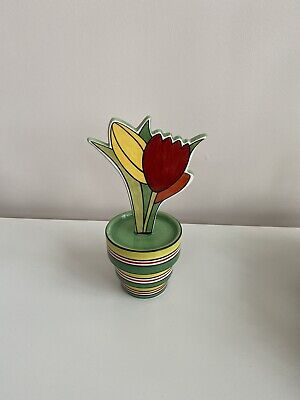 Wedgwood Clarice Cliff 'Tulips And Fern' Flower Pot • 68£
