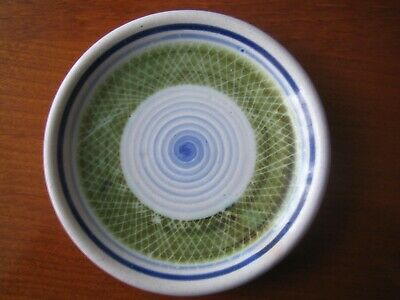 Rye Pottery Mid 20th Century / 1960's Sgrafitto Pattern Pin Dish / Mini Plate • 7.99£