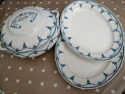 Losol Ware Tureen And 2 Serving Plates Garland Design • 7£
