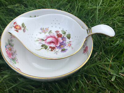 Royal Crown Derby Derby Posies Tea Strainer And Drip Bowl, Small Size Miniature • 5£