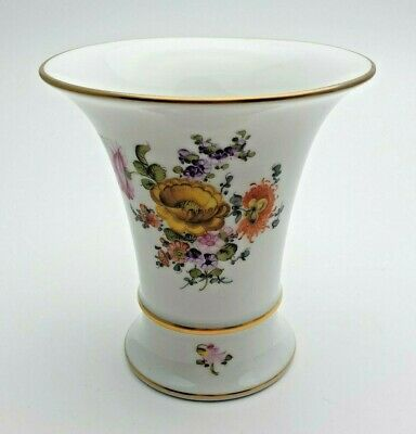 Fine Herend Gilded Floral Vase 6536 Dhr 4 Inches - Perfect • 14.99£