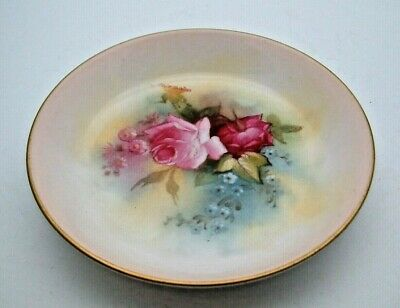 SUPERB ROYAL WORCESTER HAND PAINTED DISH WITH ENGLISH FLOWERS C.1923 - PERFECT  • 19.99£