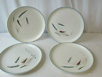 Denby Pottery Greenwheat Dinner Plates X4 Tableware 25.5cm Lot 2 • 6.99£