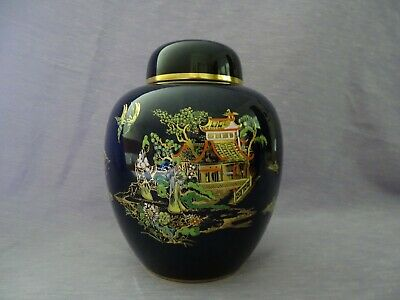 Carlton Ware Ginger Jar Bleu Royale New Mikado Pattern • 9.99£