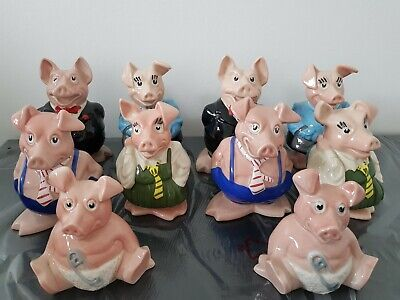 Natwest Pigs 2 Full Sets All With Stoppers • 120£
