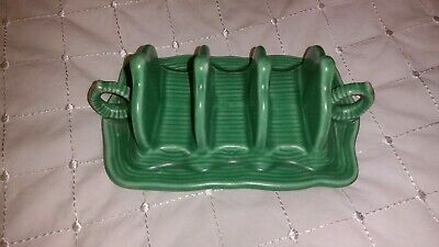 Vintage Sylvac Green 4 Bar Toast Rack • 8.99£