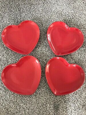 Set Of 4 Heart Plates  • 4£