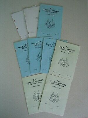 The Torquay Pottery Collectors' Society Newsletter/magazine, 9 Issues:1977/78/79 • 12£