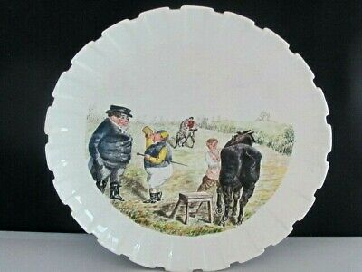 Antique Spode Copeland China Punch Handpainted Mr Briggs Horse Racing Plate • 50£