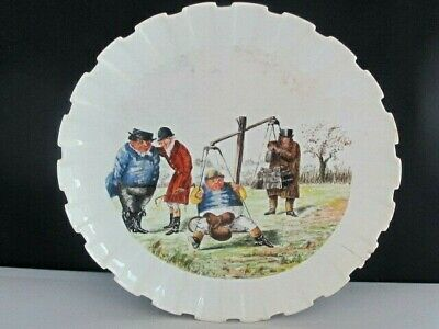 Antique Spode Copeland China Punch Handpainted Mr Briggs Horse Racing Plate • 35£