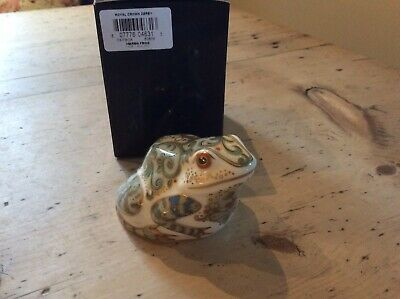 Royal Crown Derby Paperweight   Marsh Frog   1st Quality Gold Stopper Freepost • 39£