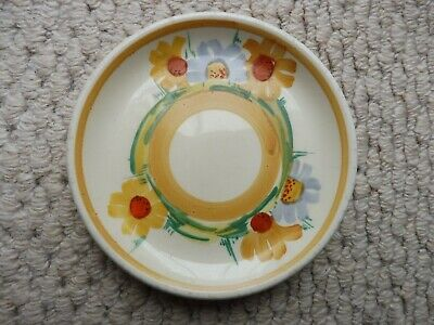 Susie Cooper Marsh Marigold Hand Painted Pin Dish  / Butter Pat • 17£