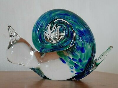 Wedgwood Glass Blue Snail Paperweight Ornament  • 14.99£