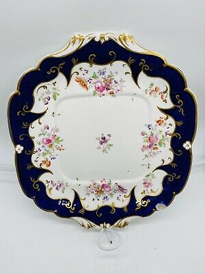 Ridgway 2/5709 Chantilly Pattern Plate Elaborate Blue And Gold Gilt Floral • 6£