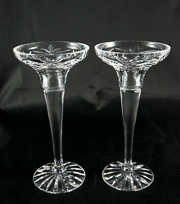 Pair Of Stunning Lead Crystal Candlestick Holders • 25£