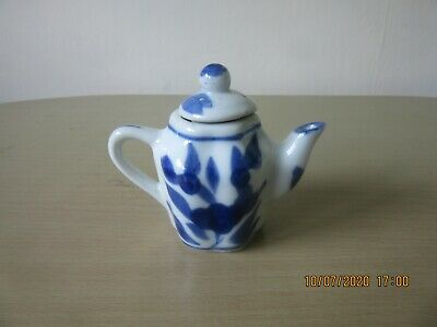 Small Teapot, Maybe Children Toy Teaset Size, Blue & Off White  • 2.99£