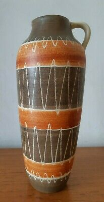 Vintage Mid Century Modern West German Freeform Pottery Vase 1950s  • 24.99£
