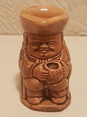 Vintage Small Toby Jug Lord Nelson Glazed Pottery Ornament Statue For Display • 1£